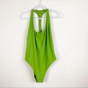Aerie   Green One Piece Cheekier Swimsuit